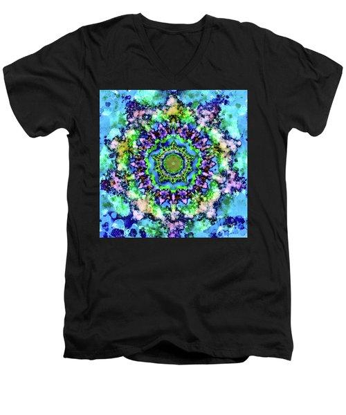 Mandala Art 1 Men's V-Neck T-Shirt by Patricia Lintner