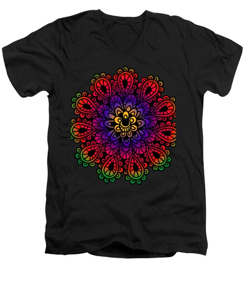 Mandala By Lamplight Men's V-Neck T-Shirt