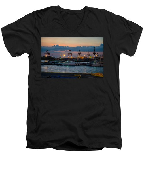 Manila Port Men's V-Neck T-Shirt