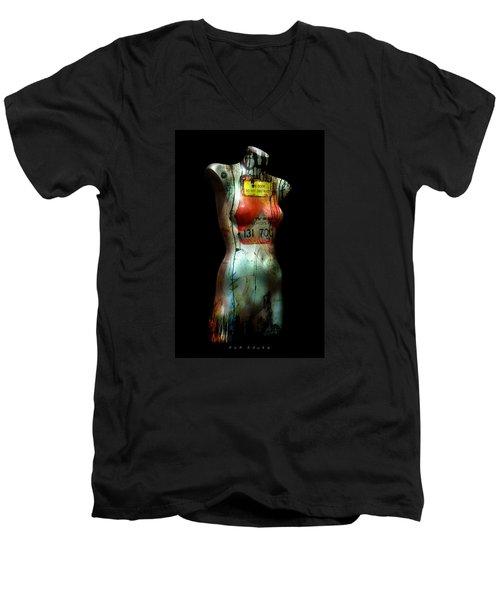 Mannequin Graffiti Men's V-Neck T-Shirt by Kim Gauge