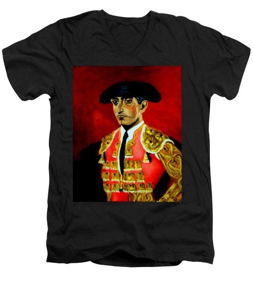 Manolete  Men's V-Neck T-Shirt