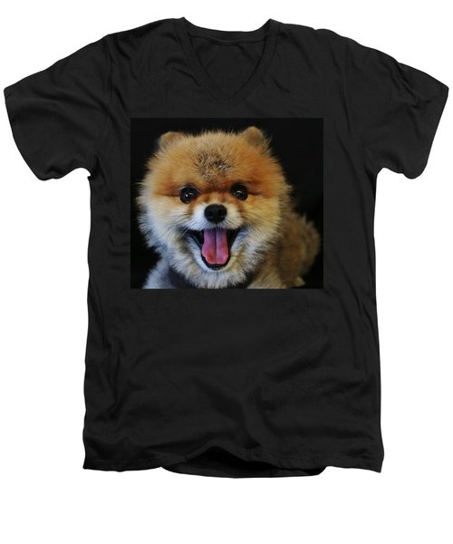 Mans Best Friend Men's V-Neck T-Shirt