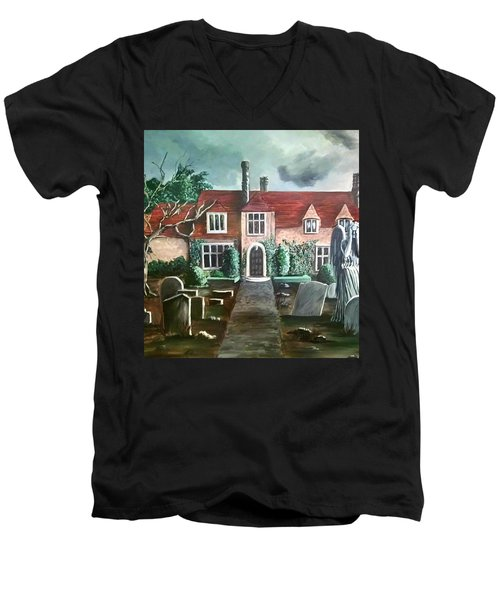 Mansion Men's V-Neck T-Shirt by Persephone Artworks