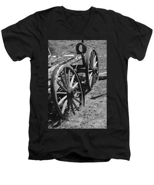 Men's V-Neck T-Shirt featuring the photograph Many Years Ago by Debby Pueschel