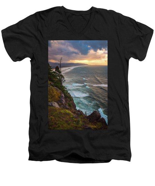 Manzanita Sun Men's V-Neck T-Shirt by Darren White