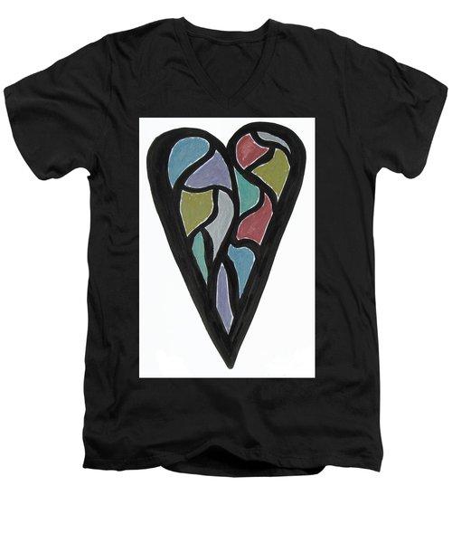Map Heart Men's V-Neck T-Shirt