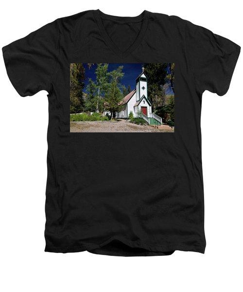Marble Chapel Men's V-Neck T-Shirt