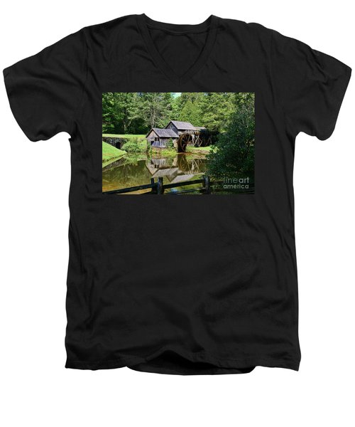 Men's V-Neck T-Shirt featuring the photograph Marby Mill 2 by Paul Ward