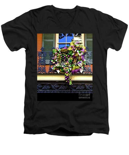 Mardi Gras Decor 1 Men's V-Neck T-Shirt