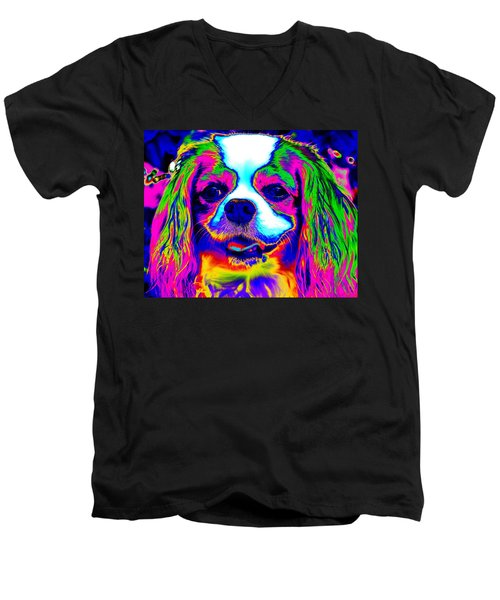 Mardi Gras Dog Men's V-Neck T-Shirt