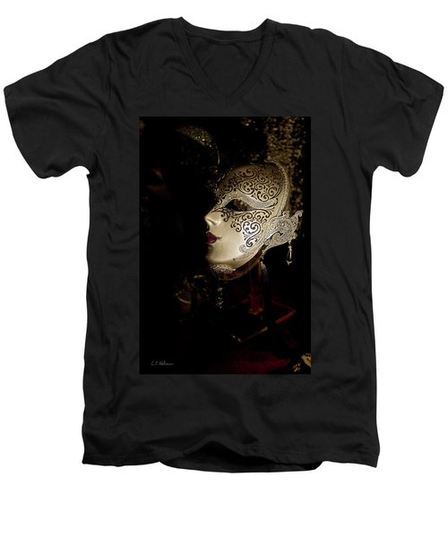 Mardi Gras Mask Men's V-Neck T-Shirt