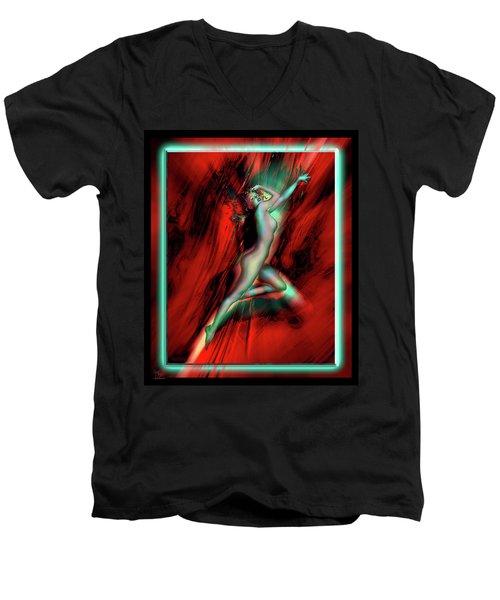 Marilyn's Rose Men's V-Neck T-Shirt