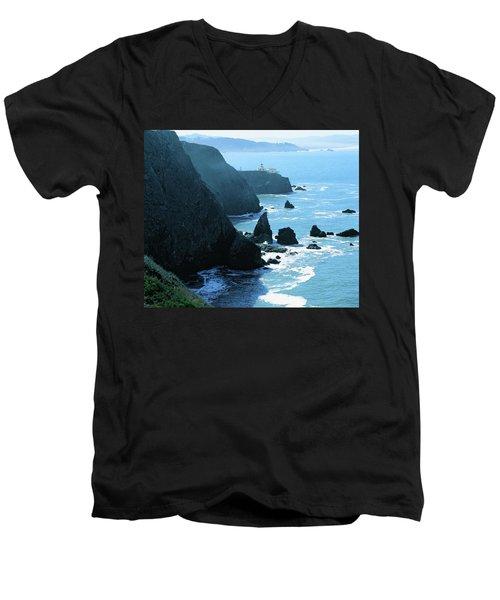 Marin Coastline Men's V-Neck T-Shirt by Utah Images