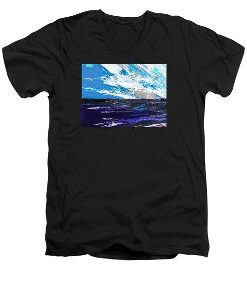 Mariner Men's V-Neck T-Shirt by Ralph White