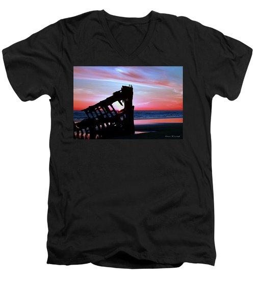 Mariners Sky 20 Men's V-Neck T-Shirt by Steve Warnstaff