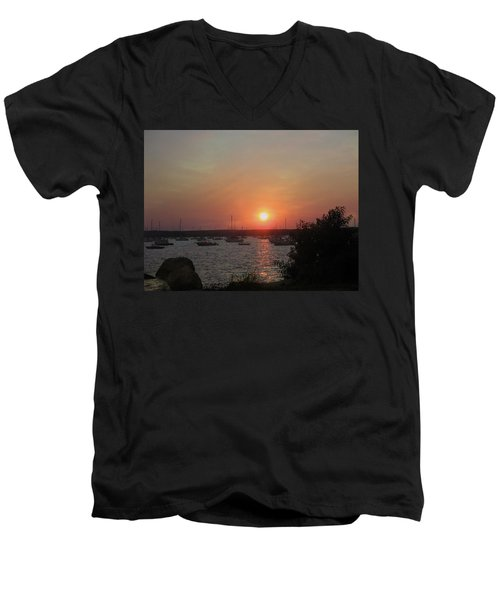 Marion Massachusetts Bay Men's V-Neck T-Shirt