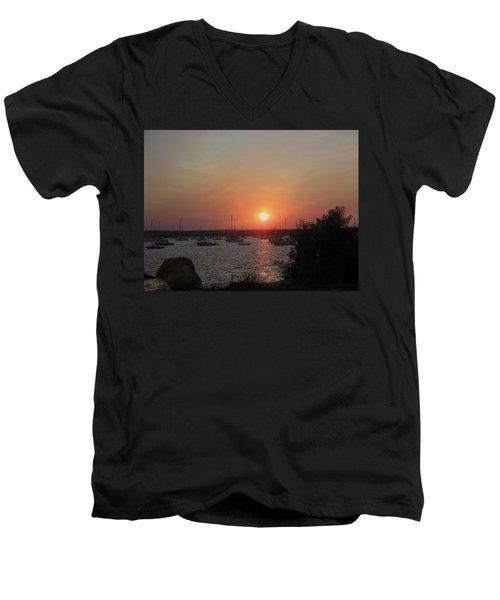 Marion Massachusetts Bay Men's V-Neck T-Shirt