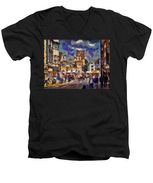 Market Square Monday Men's V-Neck T-Shirt