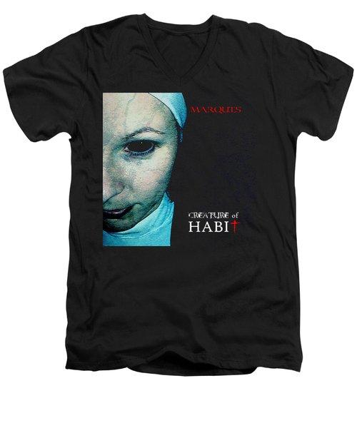 Marquis - Creature Of Habit Men's V-Neck T-Shirt by Mark Baranowski