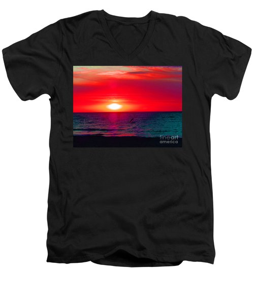 Mars Sunset Men's V-Neck T-Shirt