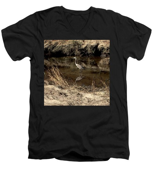 Marsh Bird Men's V-Neck T-Shirt