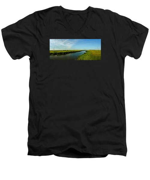 Men's V-Neck T-Shirt featuring the photograph Marshes Of Glynn by Laura Ragland