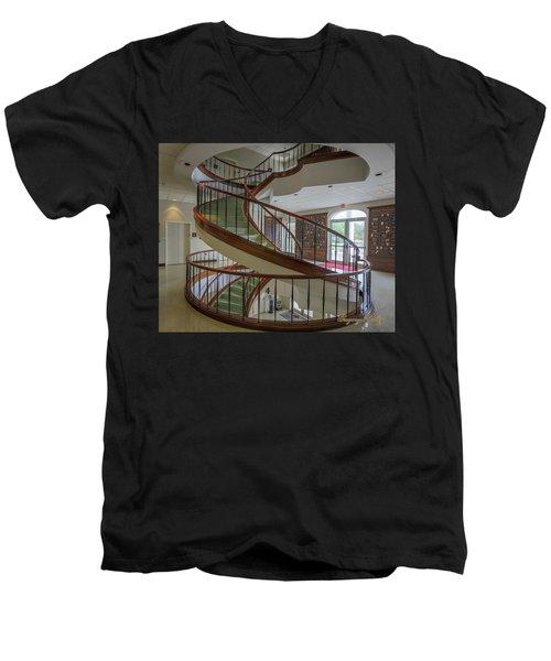 Marttin Hall Spiral Stairway 2 Men's V-Neck T-Shirt
