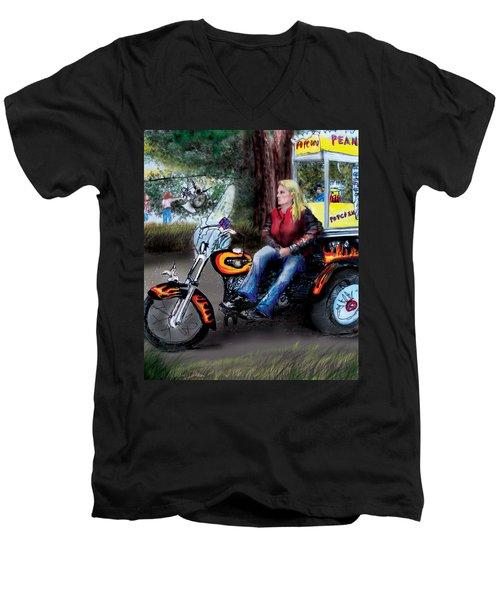 Marty's Harley Men's V-Neck T-Shirt by Albert Puskaric