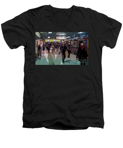 Marunouchi Line, Tokyo Metro Japan Poster Men's V-Neck T-Shirt