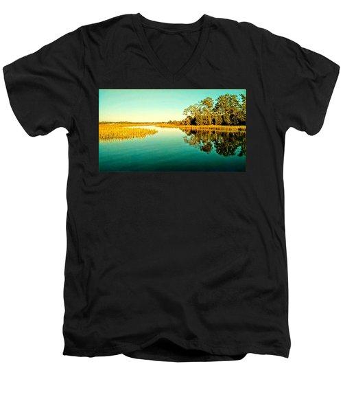 Marvelous Marsh Men's V-Neck T-Shirt