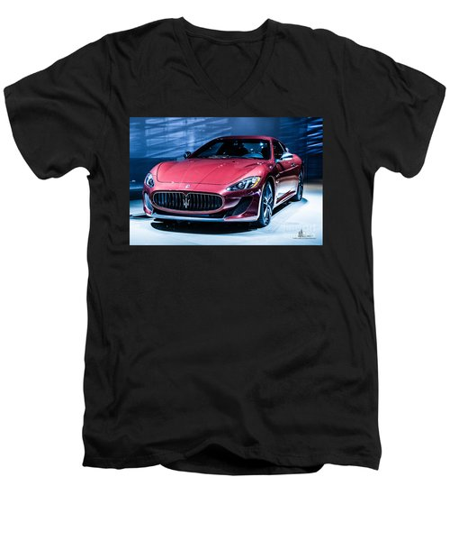Maserati Men's V-Neck T-Shirt