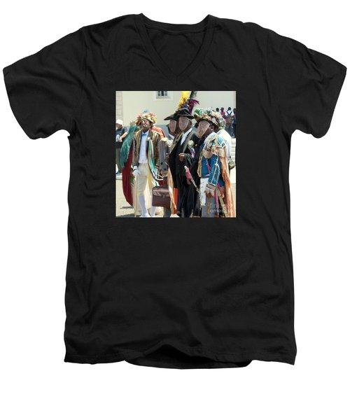 Masqueraders Of Sao Tome Men's V-Neck T-Shirt by John Potts