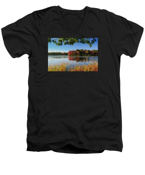 Massapequa Nature Preserve Men's V-Neck T-Shirt by Jose Oquendo