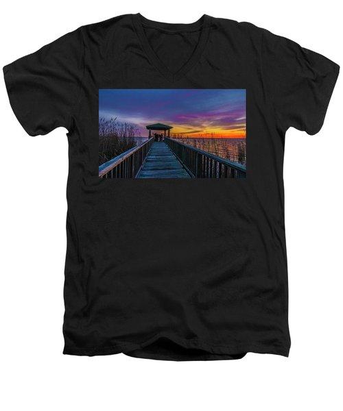 Mattamuskeet Lake Men's V-Neck T-Shirt