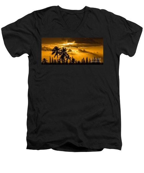 Maui Sunset Men's V-Neck T-Shirt