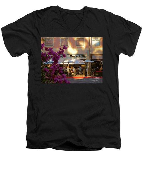 Max's Cafe In Mizner Park. Boca Raton, Fl Men's V-Neck T-Shirt