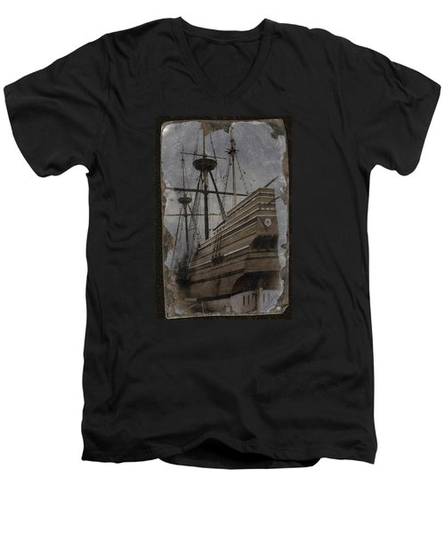 Mayflower 1 Men's V-Neck T-Shirt