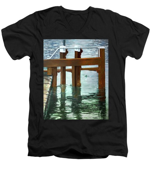 Maynooth Lock Men's V-Neck T-Shirt by Marty Garland