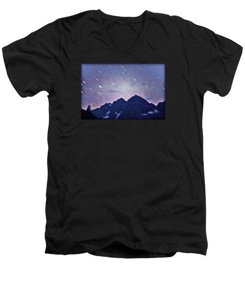 Mb Star Showers Men's V-Neck T-Shirt by Matt Helm