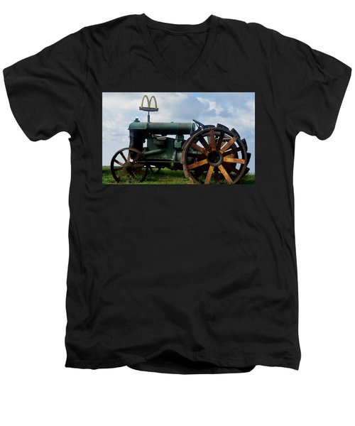 Mctractor Men's V-Neck T-Shirt by Gary Smith