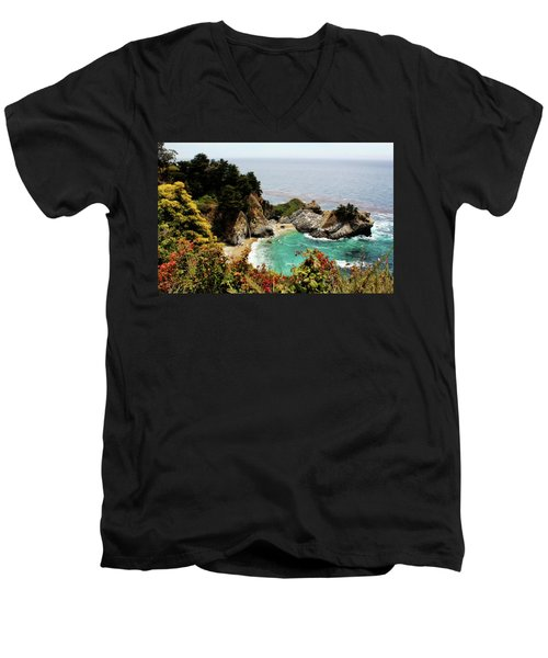 Mcway Falls 2 Men's V-Neck T-Shirt by Judy Vincent