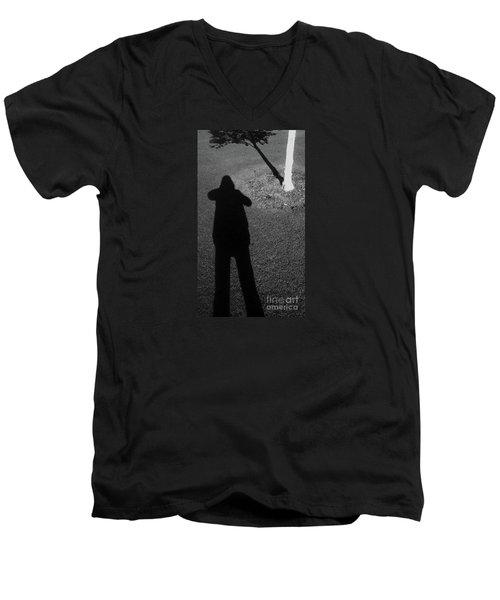 Me And My Shadow Men's V-Neck T-Shirt by Nareeta Martin
