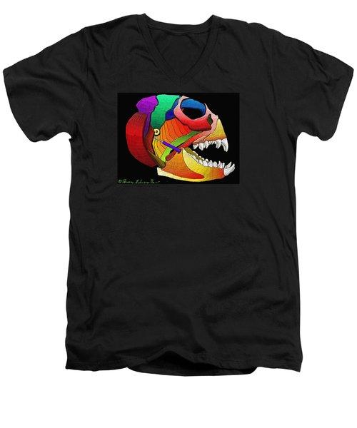 Mechanic Fishhead Men's V-Neck T-Shirt