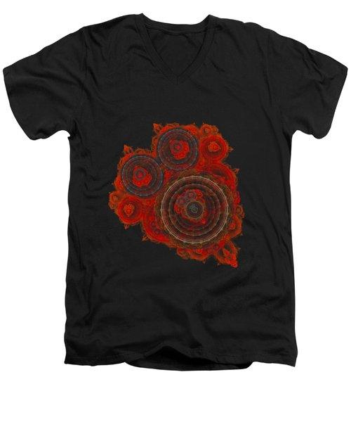 Mechanical Heart Men's V-Neck T-Shirt by Martin Capek