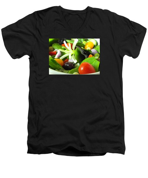 Mediterranean Salad Men's V-Neck T-Shirt