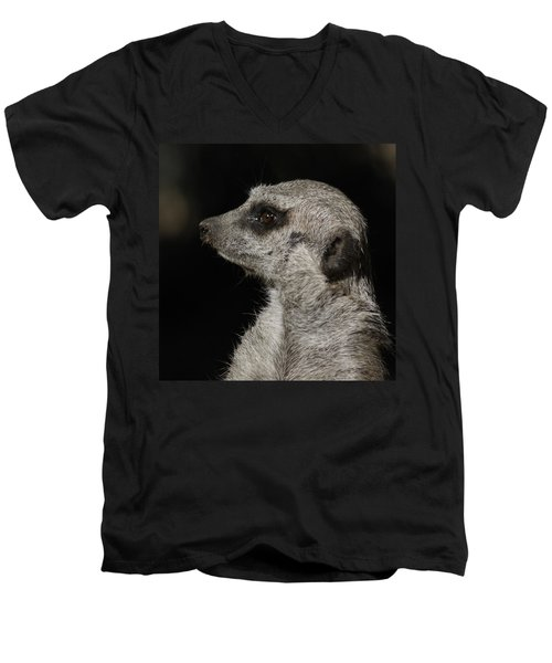 Meerkat Profile Men's V-Neck T-Shirt