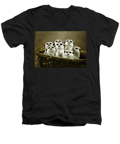 Meerkats Men's V-Neck T-Shirt by Thanh Thuy Nguyen