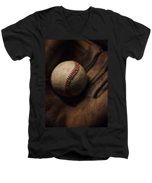 Meet Me At The Sandlot Men's V-Neck T-Shirt by Heather Applegate