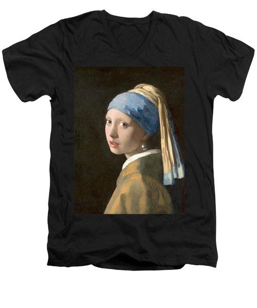 Meisje Met De Parel Men's V-Neck T-Shirt
