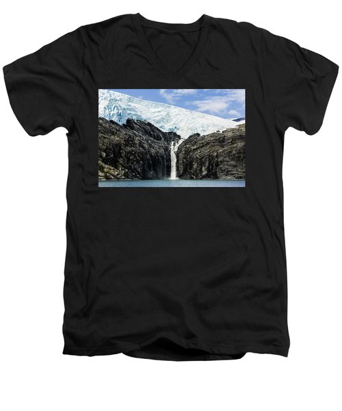 Meltwater From The Northland Glacier Men's V-Neck T-Shirt by Ray Bulson